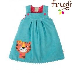 "frugi - Bio Baby Cord Kleid ""Lily"" mit Tiger-Motiv"