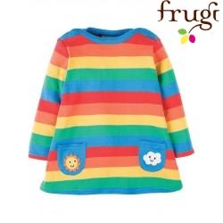 """frugi - Bio Baby Sweat Kleid """"Rainbow"""" mit Regenbogen"""