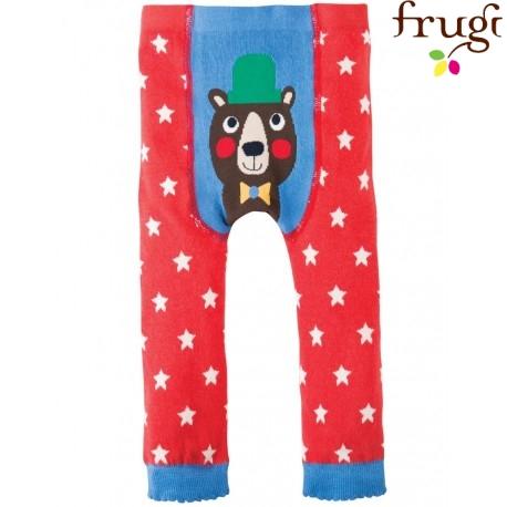 frugi - Baby Leggings mit Sternen und Bären-Motiv