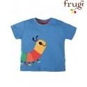 """frugi - Bio Baby T-Shirt """"Scout"""" mit Raupen-Motiv"""