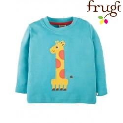 """frugi - Bio Baby Langarmshirt """"Magic Number"""" mit Giraffen-Motiv"""