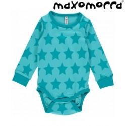 Maxomorra - Bio Baby Body mit Sternen-Motiv