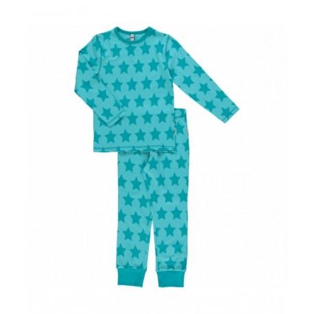 Maxomorra - Bio Kinder Schlafanzug mit Sternen-Motiv