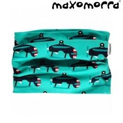 Maxomorra - Bio Kinder Schlauchschal mit Flugzeug-Motiv