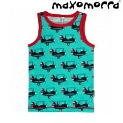 Maxomorra - Bio Kinder Unterhemd mit Flugzeug-Motiv
