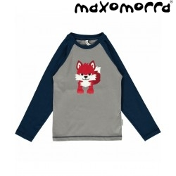 Maxomorra - Bio Kinder Langarmshirt mit Fuchs-Motiv