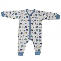 People Wear Organic - Bio Baby Strampler mit Waldtieren-Motiv
