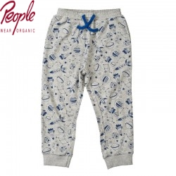 People Wear Organic - Bio Kinder Sweathose mit Weltall-Motiv