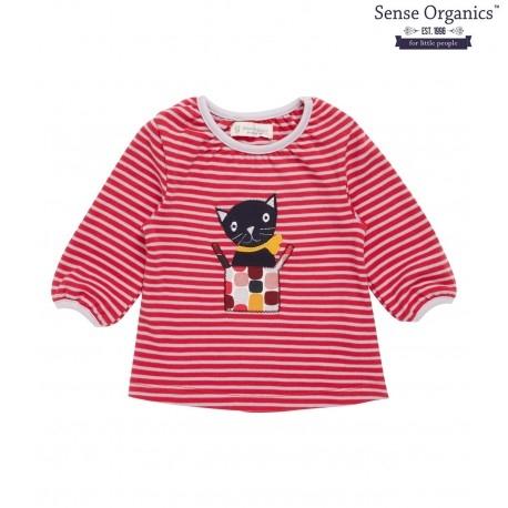 "Sense Organics - Bio Baby Langarmshirt ""Selly"" mit Katzen-Motiv"