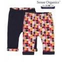 "Sense Organics - Bio Baby Wende Sweathose ""Baker"" mit Punkten"