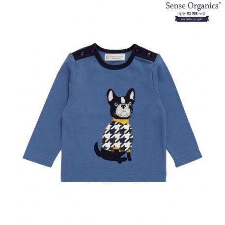 """Sense Organics - Bio Baby Langarmshirt """"Ole"""" mit Hunde-Motiv"""