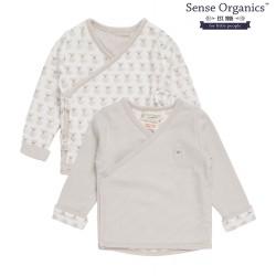 "Sense Organics - Bio Baby Wende Wickeljacke ""Wanda"" mit Hundedruck"