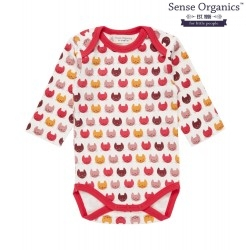 "Sense Organics - Bio Baby Body ""Yvon Retro"" mit Katzendruck"