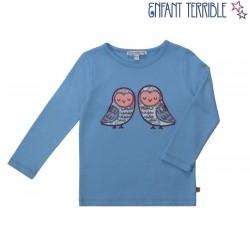 Enfant Terrible - Bio Kinder Langarmshirt mit Eulen-Motiv