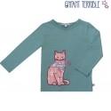 Enfant Terrible - Bio Kinder Langarmshirt mit Katzen-Motiv
