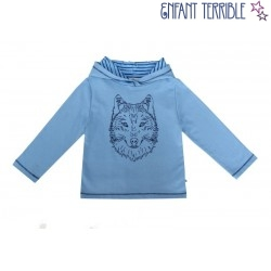 Enfant Terrible - Bio Kinder Sweatshirt mit Wolf-Stickerei