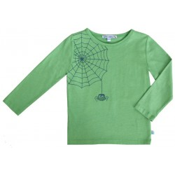 Enfant Terrible - Bio Kinder Langarmshirt mit Spinnen-Stickerei