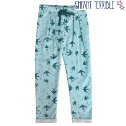 Enfant Terrible - Bio Kinder Sweathose mit Schwalben-Motiv