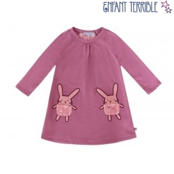 Enfant Terrible - Bio Kinder Sweatkleid mit Hasen-Motiv