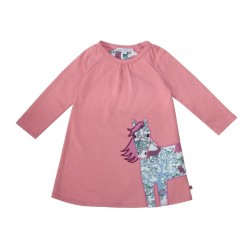 Enfant Terrible - Bio Kinder Sweatkleid mit Pferde-Motiv