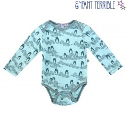 Enfant Terrible - Bio Baby Body mit Pinguin-Motiv