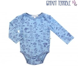 Enfant Terrible - Bio Baby Body mit Monster-Motiv