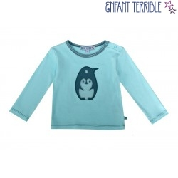 Enfant Terrible - Bio Baby Langarmshirt mit Pinguin-Applikation