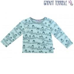 Enfant Terrible - Bio Baby Langarmshirt mit Pinguin-Motiv