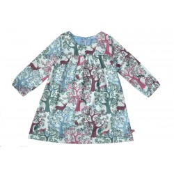 Enfant Terrible - Bio Kinder Kleid mit Wald-Motiv