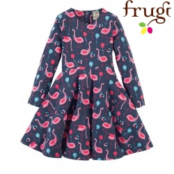 "frugi - Bio Kinder Jersey Kleid ""Sofia"" mit Flamingo-Motiv"