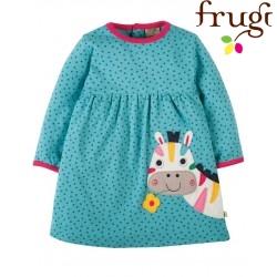 """frugi - Bio Baby Jersey Kleid """"Dolcie"""" mit Zebra-Motiv und Punkten"""