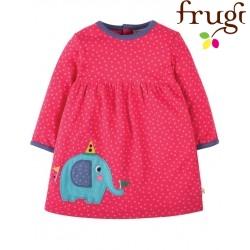 """frugi - Bio Baby Jersey Kleid """"Dolcie"""" mit Elefanten-Motiv und Punkten"""