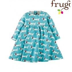 """frugi - Bio Baby Jersey Kleid """"Tess"""" mit Hunde-Motiv"""