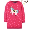 "frugi - Bio Kinder Sweat Kleid ""Eloise"" mit Pony-Motiv"