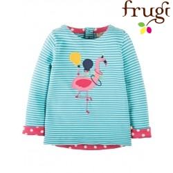 """frugi - Bio Kinder Langarmshirt """"Alana"""" mit Flamingo-Motiv"""