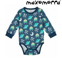 Maxomorra - Bio Baby Body mit Raumschiff-Motiv