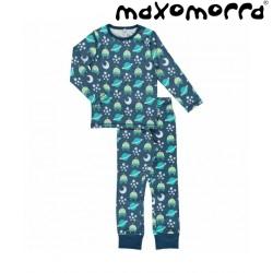 Maxomorra - Bio Kinder Schlafanzug mit Raumschiff-Motiv