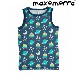 Maxomorra - Bio Kinder Unterhemd mit Raumschiff-Motiv