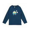 Maxomorra - Bio Kinder Langarmshirt mit Raumschiff-Motiv