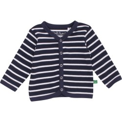 Fred`s World by Green Cotton - Bio Kinder Strickjacke mit Streifen
