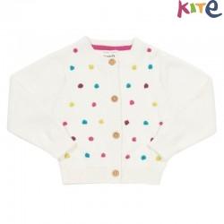 kite kids - Bio Baby Strickjacke mit Punkten