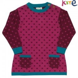 kite kids - Bio Baby Strick Kleid mit Punkten