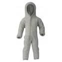 ENGEL - Bio Baby Fleece Overall mit Kapuze, Wolle, grau