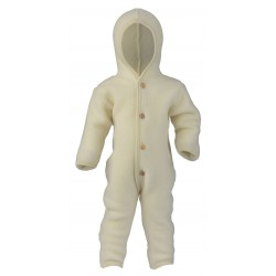 ENGEL - Bio Baby Fleece Overall mit Kapuze, Wolle