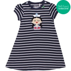 Fred`s World by Green Cotton - Bio Kinder Kleid mit Matrosin und Streifen