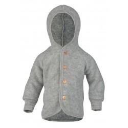 ENGEL - Bio Baby Fleece Jacke mit Kapuze, Wolle