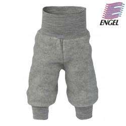 ENGEL - Bio Baby Fleece Hose mit Nabelbund, Wolle, grau