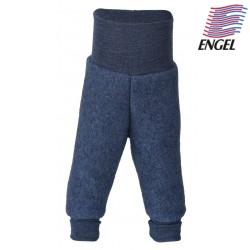 ENGEL - Bio Baby Fleece Hose mit Nabelbund, Wolle, blau