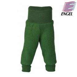 ENGEL - Bio Baby Fleece Hose mit Nabelbund, Wolle, grün