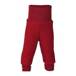 ENGEL - Bio Baby Fleece Hose mit Nabelbund, Wolle, rot